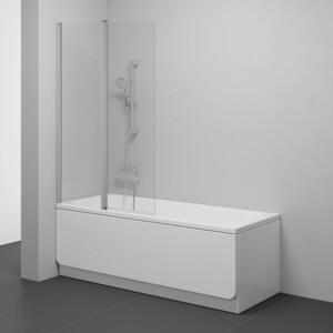 Шторка на ванну Ravak Chrome CVS2-100 L прозрачная, сатин, левая (7QLA0U00Z1)