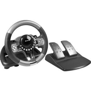 Игровой руль Defender Forsage GTR USB, 12 кнопок, рычаг передач (64367) defender forsage drift usb ps2 ps3 12 кн рычаг коробки передач 64370
