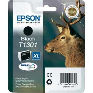 Картридж Epson T1301 B42WD черный (C13T13014010)