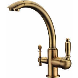 Смеситель для кухни ZorG Clean water (ZR 314 yf-33 br) смеситель для ванны zorg cologne zr 106 w