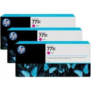 Картридж HP B6Y33A картридж струйный hp 771c b6y32a хроматический красный для designjet z6200 printer series 775 мл 3 шт в упаковке