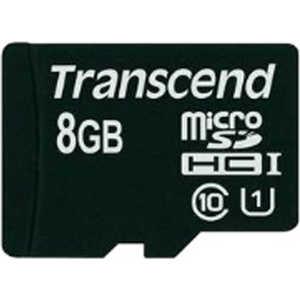 Карта памяти Transcend microSD 8GB Class 10 UHS-I (TS8GUSDCU1) карта памяти sdhc 8gb transcend class4
