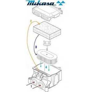 Фильтр воздушный Mikasa MT-76D (3710-10060)