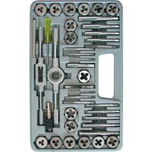 Набор леркок и метчиков FIT 40 предметов легированная сталь ''Профи'' (70807) 40 предметов легированная сталь
