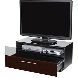 Тумба под телевизор Allegri Бриз 1 1250 черный глянец каркас черный стекло черн тумба под телевизор allegri бриз 2 1250 черный глянец каркас черный стекло черн