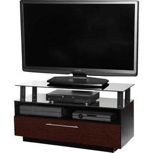 Тумба под телевизор Allegri Бриз 2 1050 красная вишня каркас черный стекло черное тумба под телевизор allegri бриз 2 1250 черный глянец каркас черный стекло черн
