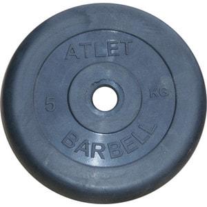 Фото - Диск обрезиненный Atlet 26 мм 5 кг черный диск обрезиненный atlet 26 мм 5 кг черный
