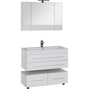 Мебель для ванной Aquanet Верона 100 два ящика, белый