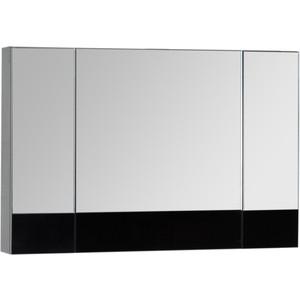 Зеркальный шкаф Aquanet Верона 100 черный (175386)