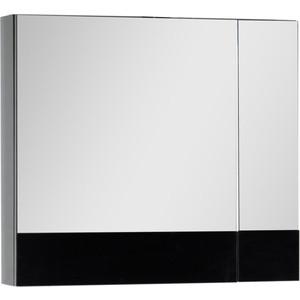 Зеркальный шкаф Aquanet Верона 75 черный (175385) шкаф с 2 дверками из массива сосны nottingham