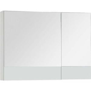 Зеркальный шкаф Aquanet Верона 90 белый (172339) шкаф с 2 дверками из массива сосны nottingham