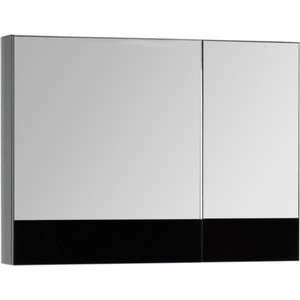 Зеркальный шкаф Aquanet Верона 90 черный (172340) шкаф с 2 дверками из массива сосны nottingham