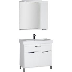 Мебель для ванной Aquanet Гретта 90 белый карниз универсальный euroshowers 90 х 90 х 90 см цвет хром