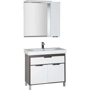 Мебель для ванной Aquanet Гретта 90 венге/белый карниз универсальный euroshowers 90 х 90 х 90 см цвет хром
