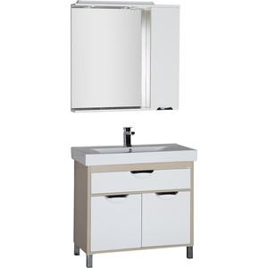 Мебель для ванной Aquanet Гретта 90 светлый дуб/белый карниз универсальный euroshowers 90 х 90 х 90 см цвет хром