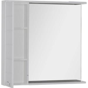 Зеркало-шкаф Aquanet Доминика 90 LED R цвет бел (176571) шкаф доминика 450