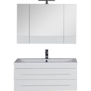 Мебель для ванной Aquanet Нота 100 белый глянец