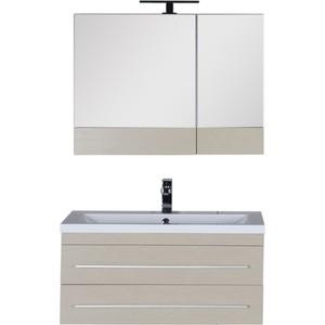 Мебель для ванной Aquanet Нота 90 светлый дуб карниз универсальный euroshowers 90 х 90 х 90 см цвет хром
