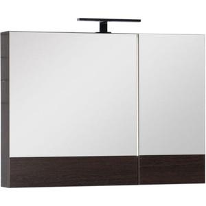 Зеркальный шкаф Aquanet Нота 90 венге (159110) цена