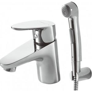 Смеситель для раковины Bravat Drop с гигиеническим душем (F14898C-2) смеситель для умывальника раковины коллекция drop f14898c 1 однорычажный хром bravat брават
