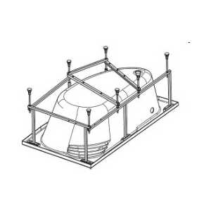 Монтажный комплект Santek Ибица XL 160х100 см, каркас, слив перелив, крепления (1WH112427)