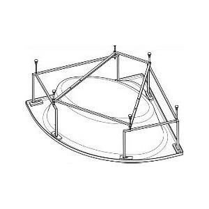 Монтажный комплект Santek Карибы 140х140 см, каркас, слив перелив, крепления (1WH112430)