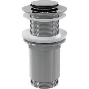Донный клапан AlcaPlast Click-clack 5/4 цельнометаллический, с малой заглушкой (A394)