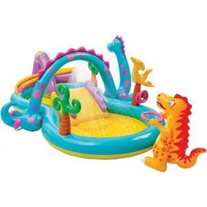 Игровой центр - бассейн Intex Dinoland 333х229х112 см от 3 лет 57135/57135NP игровой центр для бассейна intex мой первый гимнастический зал с48476 розовый 127 х 61 см