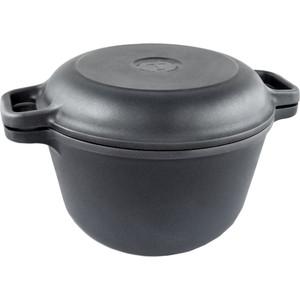 Казан с крышкой-сковородой НМП 3 л Титан 9830