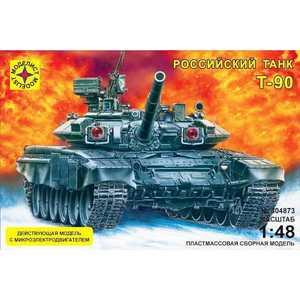 Фото - Моделист Модель танк Т -90 (1:48) с микро элементовектродвигателем 304873 танк моделист т 90 с микроэлектродвигателем 1 48 серый 304873