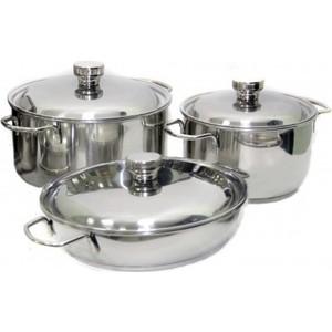 Набор посуды Амет Классика-Прима из 6-ти предметов 1с1001 набор посуды для приготовления амет классика прима металлическая крышка