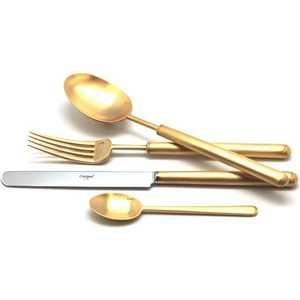 цена Набор столовых приборов Cutipol Bali gold из 72-х предметов 9312-72