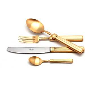 Набор столовых приборов Cutipol Fontainebleau gold из 72-х предметов 9162-72 набор столовых приборов cutipol mezzo из 72 х предметов 9300 72