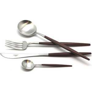 Набор столовых приборов Cutipol Goa brown из 24-х предметов 9263 нож столовый goa white matte gold go 03 wgb cutipol
