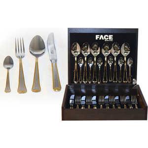 Набор столовых приборов Face Falperra gold из 24-х предметов F-FG/ 24-AL