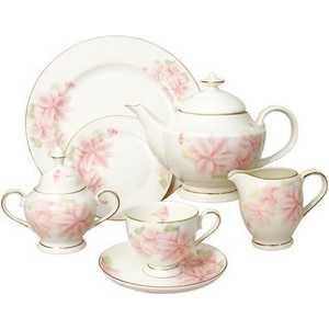 Чайный сервиз Emerald Розовые цветы из 40-ка предметов E5-HV004011/40-AL
