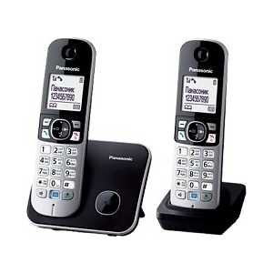 Радиотелефон Panasonic KX-TG6812RUB panasonic kx tg1611rur dect phone digital cordless telephone wireless phone system home telephone
