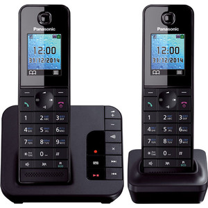 Радиотелефон Panasonic KX-TGH222RUB panasonic kx tg1611rur dect phone digital cordless telephone wireless phone system home telephone