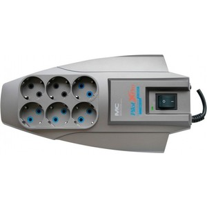 Сетевой фильтр Pilot X-Pro 3м (6 розеток) серый