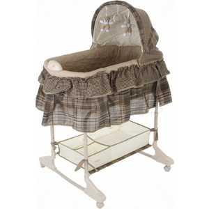 Кроватка-люлька Jetem Sweet Dream 3-в-1 коричневый цена