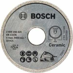 Алмазный диск Bosch 65х15мм Standard for Ceramic (2.609.256.425) круг алмазный bosch ф125х22мм по керамике best for ceramic 125x22 2 608 602 631