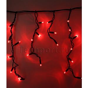 Light Светодиодная бахрома красная 3,1x0,5 чёрный каучуковый провод гирлянда light светодиодная нить rgb 10 м 24v чёрный провод