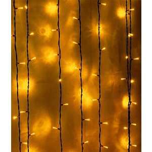 Light Светодиодный занавес желтый 2x3 чёрный провод