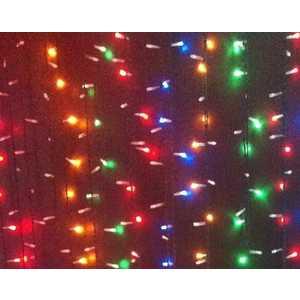 Light Светодиодный занавес разноцветный 2x2 прозрачный провод