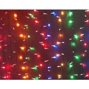 Light Светодиодный занавес разноцветный 2x3 прозрачный провод