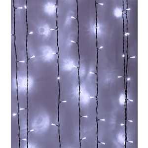 Light Светодиодный занавес белый 1x9 прозрачный провод