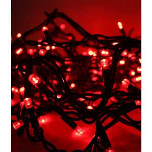 Гирлянда Light Светодиодная нить 10 м красная 100 led 24V чёрный провод