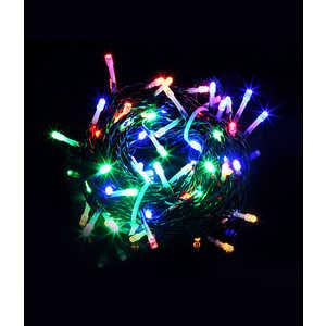 Гирлянда Light Светодиодная нить 10 м разноцветная 100 led 24V чёрный провод