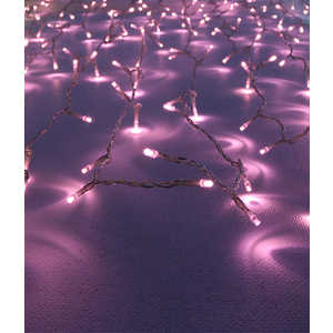 Light Светодиодный занавес светло розовый 1х2 прозрачный провод
