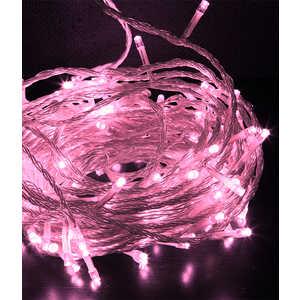 Гирлянда светодиодная Light Нить с возможностью динамики 20 м светло розовая 24V прозрачный провод фото